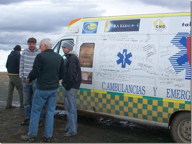McQ with Spanish Mongol Rally team members